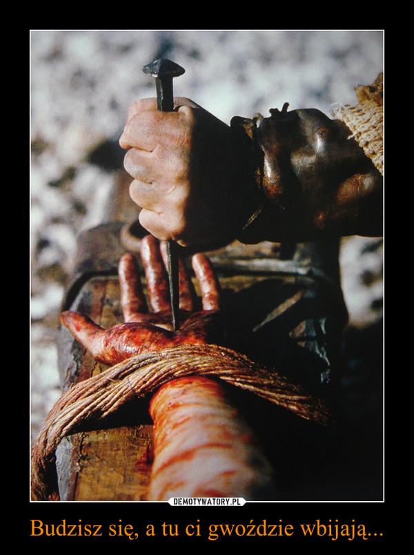 Budzisz się, a tu ci gwoździe wbijają... –