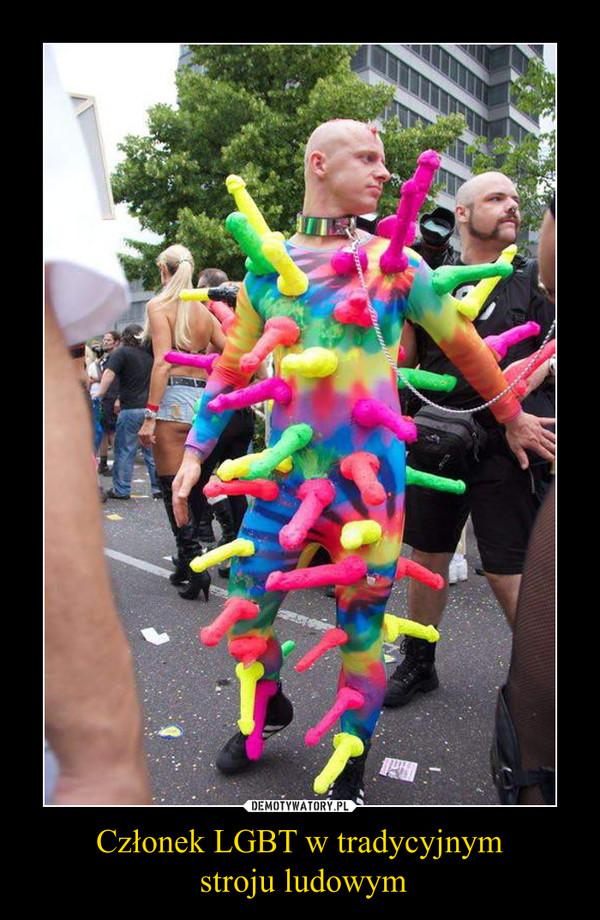 Członek LGBT w tradycyjnym stroju ludowym –