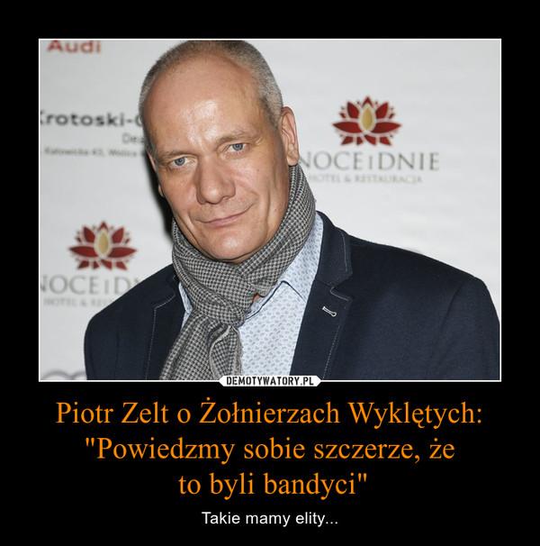 """Piotr Zelt o Żołnierzach Wyklętych: """"Powiedzmy sobie szczerze, że to byli bandyci"""" – Takie mamy elity..."""