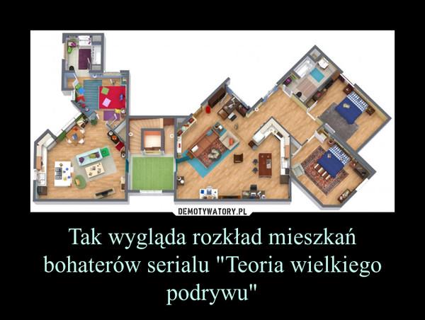 """Tak wygląda rozkład mieszkań bohaterów serialu """"Teoria wielkiego podrywu"""" –"""