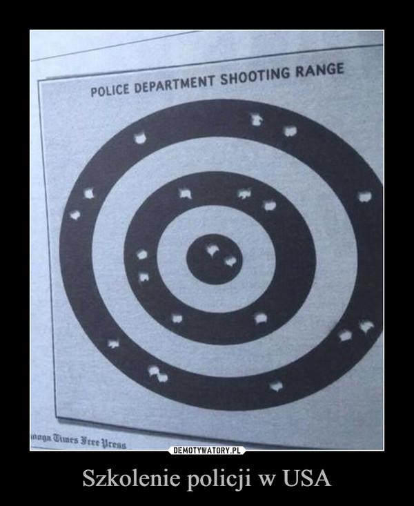 Szkolenie policji w USA