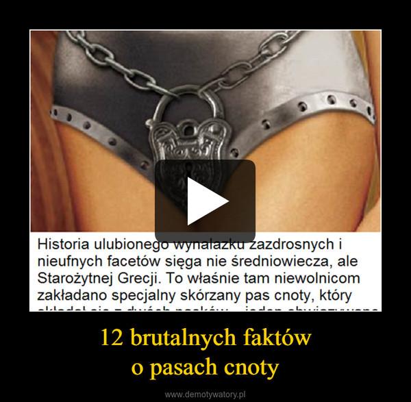 12 brutalnych faktówo pasach cnoty –