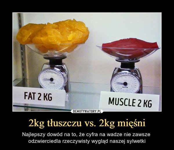 2kg tłuszczu vs. 2kg mięśni – Najlepszy dowód na to, że cyfra na wadze nie zawsze odzwierciedla rzeczywisty wygląd naszej sylwetki FAT 2 KG MUSCLE 2 KG