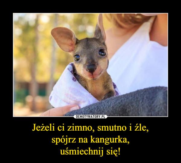 Jeżeli ci zimno, smutno i źle,spójrz na kangurka,uśmiechnij się! –