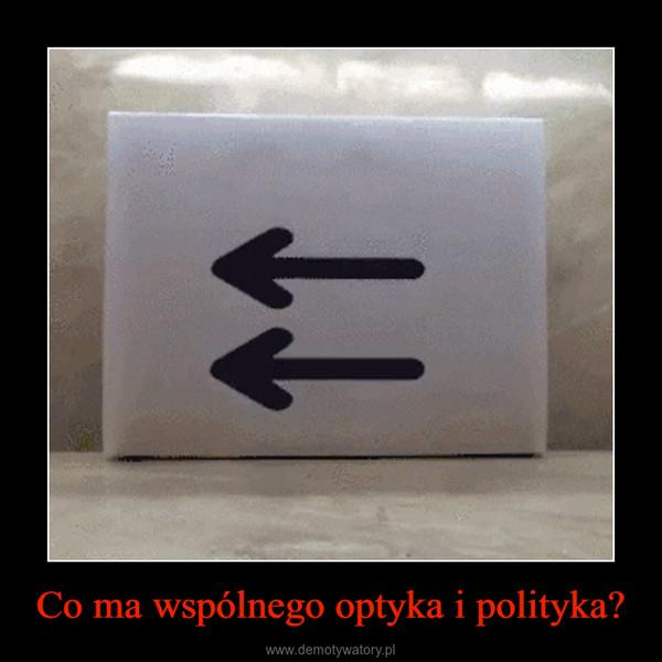 Co ma wspólnego optyka i polityka? –