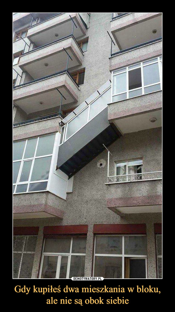 Gdy kupiłeś dwa mieszkania w bloku, ale nie są obok siebie –