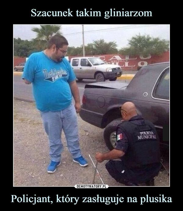 Policjant, który zasługuje na plusika –