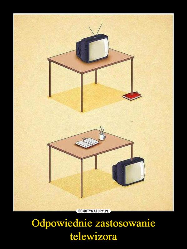 Odpowiednie zastosowanie telewizora –