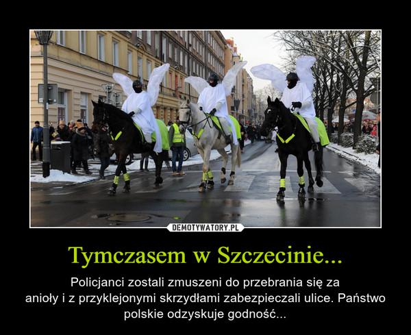 Tymczasem w Szczecinie... – Policjanci zostali zmuszeni do przebrania się zaanioły i z przyklejonymi skrzydłami zabezpieczali ulice. Państwo polskie odzyskuje godność...