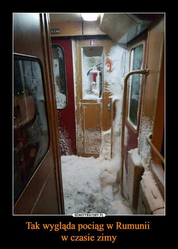 Tak wygląda pociąg w Rumunii w czasie zimy –