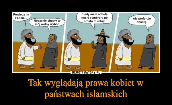 Tak wyglądają prawa kobiet w państwach islamskich –