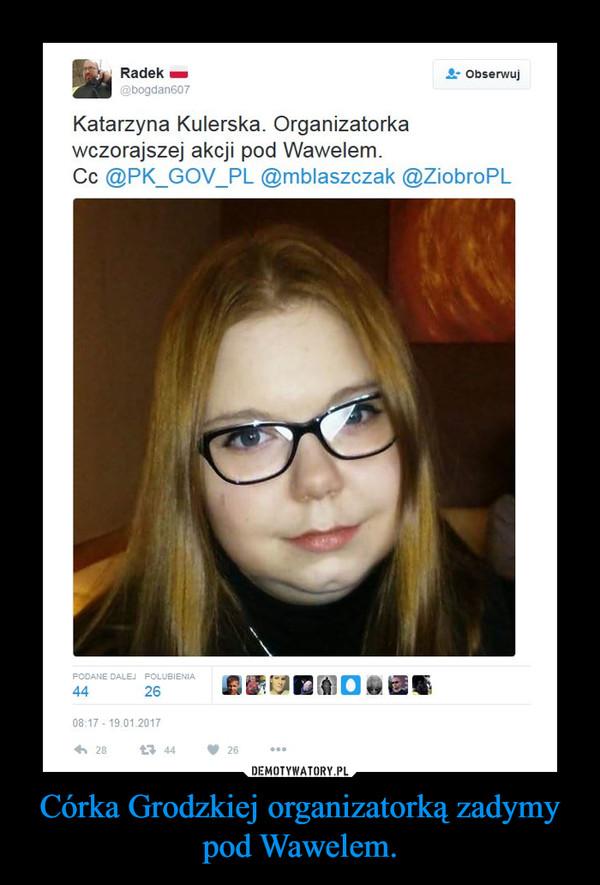 Córka Grodzkiej organizatorką zadymy pod Wawelem. –