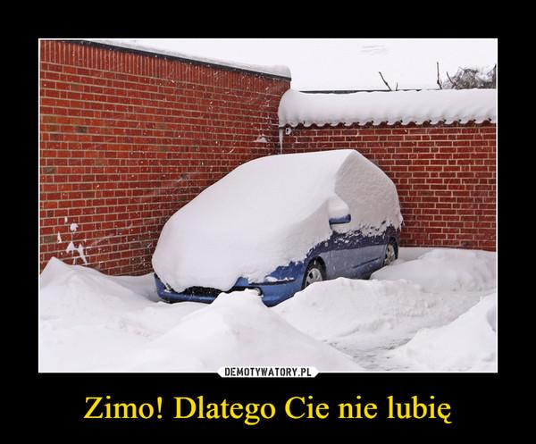 Zimo! Dlatego Cie nie lubię –