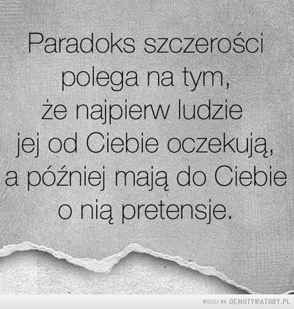 Paradoks szczerości –