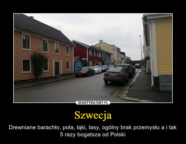 Szwecja – Drewniane barachło, pola, łąki, lasy, ogólny brak przemysłu a i tak 5 razy bogatsza od Polski