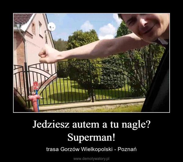 Jedziesz autem a tu nagle? Superman! – trasa Gorzów Wielkopolski - Poznań
