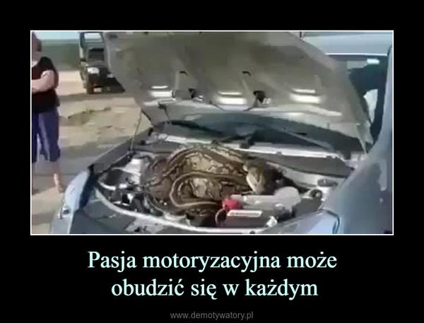 Pasja motoryzacyjna może obudzić się w każdym –
