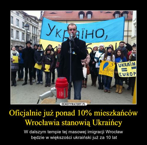 Oficjalnie już ponad 10% mieszkańców Wrocławia stanowią Ukraińcy
