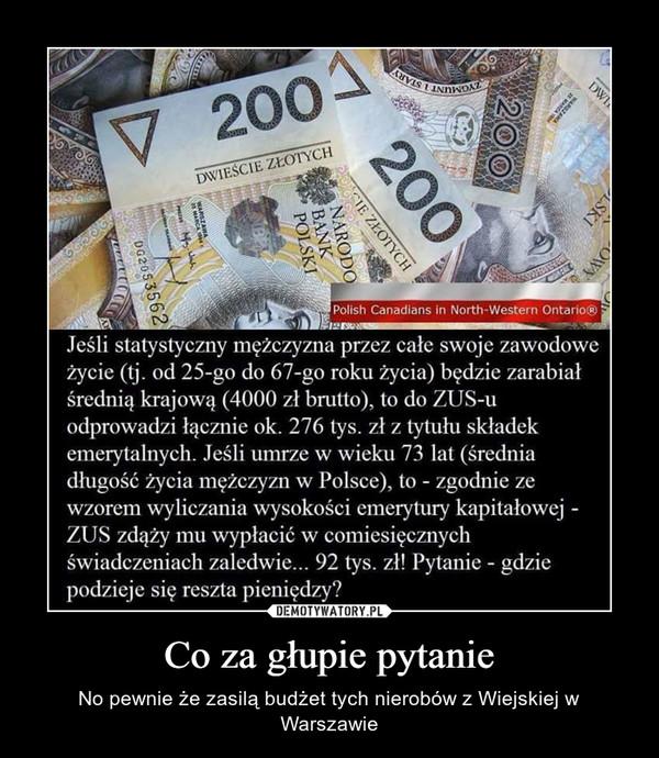 Co za głupie pytanie – No pewnie że zasilą budżet tych nierobów z Wiejskiej w Warszawie