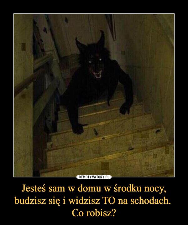 Jesteś sam w domu w środku nocy, budzisz się i widzisz TO na schodach. Co robisz? –