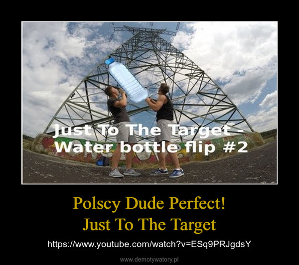Polscy Dude Perfect!Just To The Target – https://www.youtube.com/watch?v=ESq9PRJgdsY