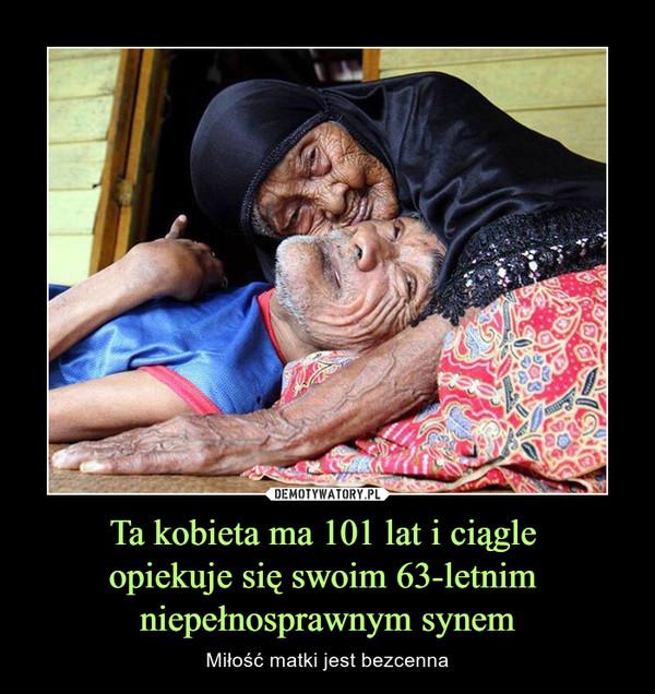 Ta kobieta ma 101 lat i ciągle opiekuje się swoim 63-letnim niepełnosprawnym synem – Miłość matki jest bezcenna