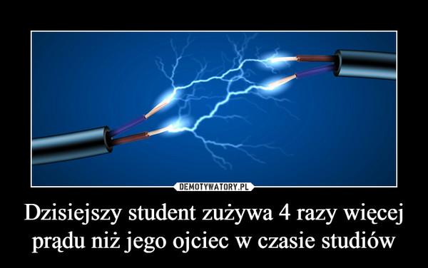 Dzisiejszy student zużywa 4 razy więcej prądu niż jego ojciec w czasie studiów –