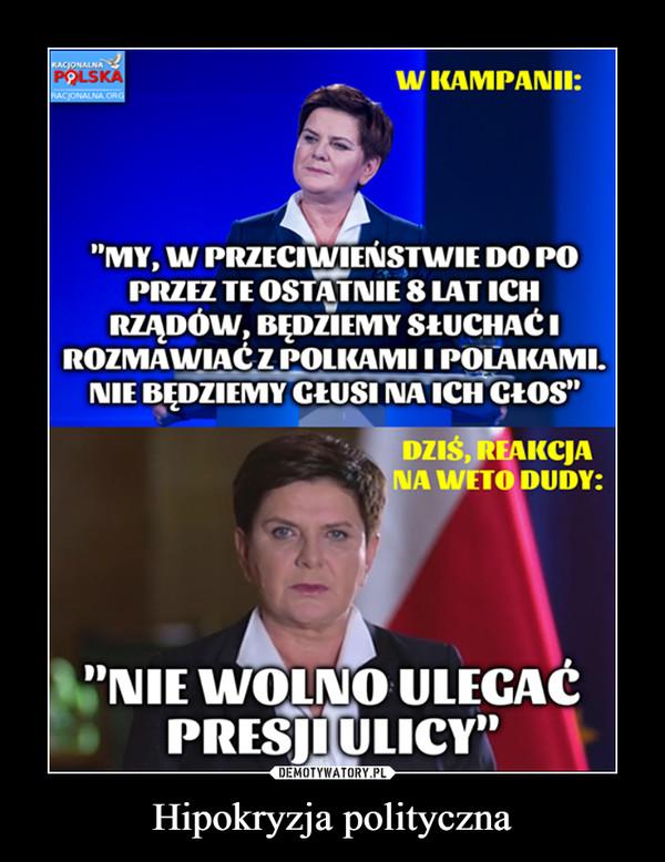 Hipokryzja polityczna –