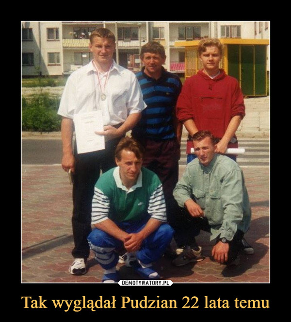 Tak wyglądał Pudzian 22 lata temu –