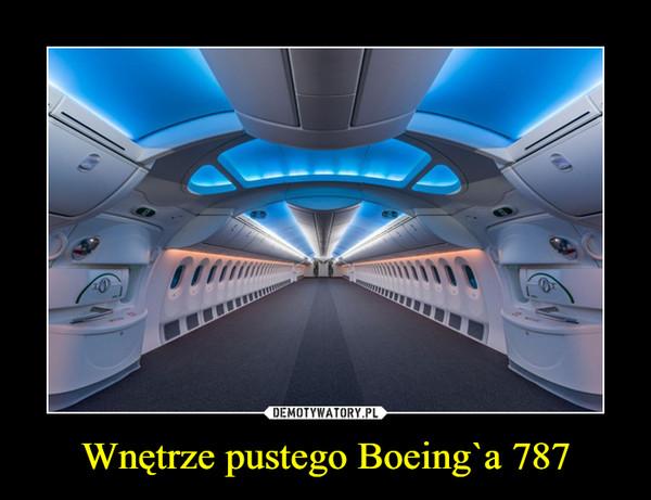 Wnętrze pustego Boeing`a 787 –