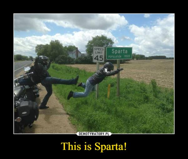 This is Sparta! –  Sparta Speed limit