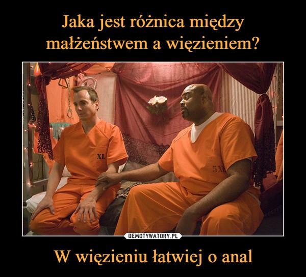 W więzieniu łatwiej o anal –