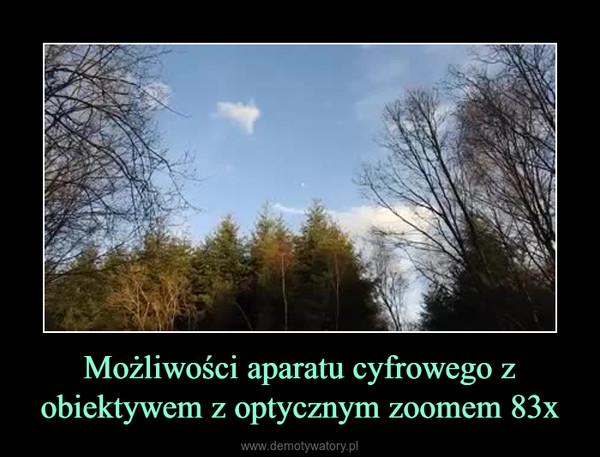 Możliwości aparatu cyfrowego z obiektywem z optycznym zoomem 83x –