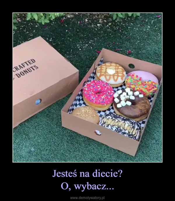 Jesteś na diecie?O, wybacz... –