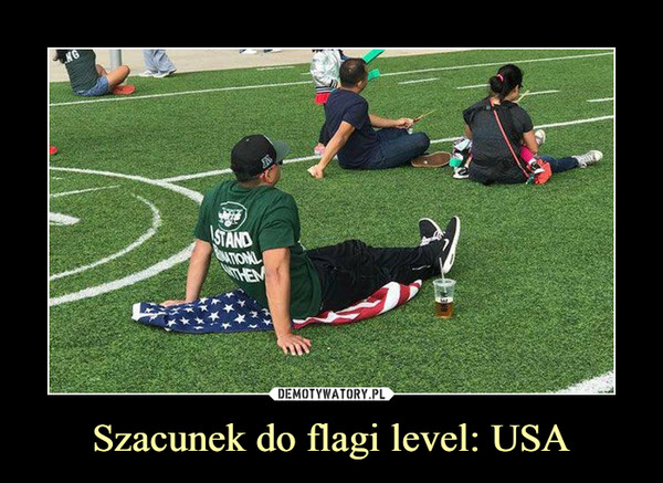 Szacunek do flagi level: USA –