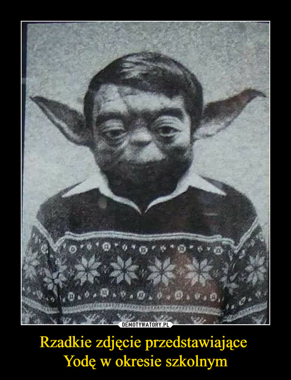 Rzadkie zdjęcie przedstawiające Yodę w okresie szkolnym –