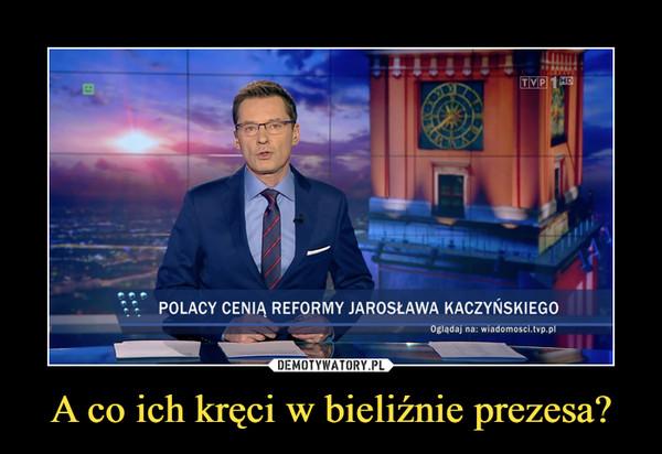 A co ich kręci w bieliźnie prezesa? –  polacy cenią reformy jarosława kaczyńskiego
