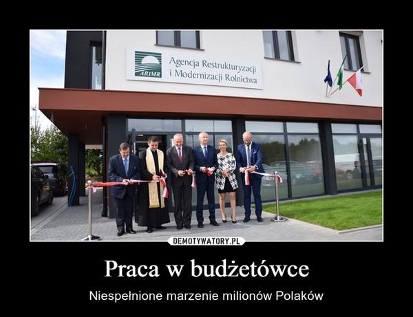 Praca w budżetówce – Niespełnione marzenie milionów Polaków