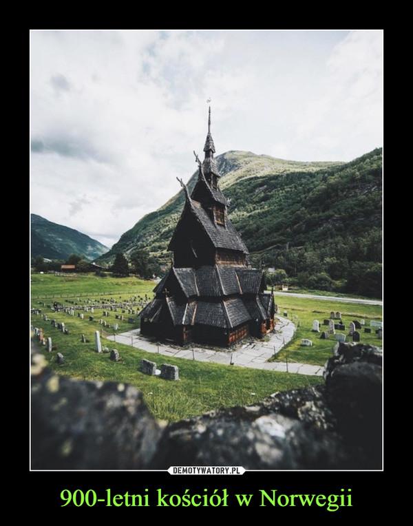 900-letni kościół w Norwegii –