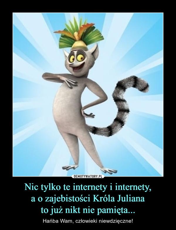 Nic tylko te internety i internety,a o zajebistości Króla Julianato już nikt nie pamięta... – Hańba Wam, człowieki niewdzięczne!