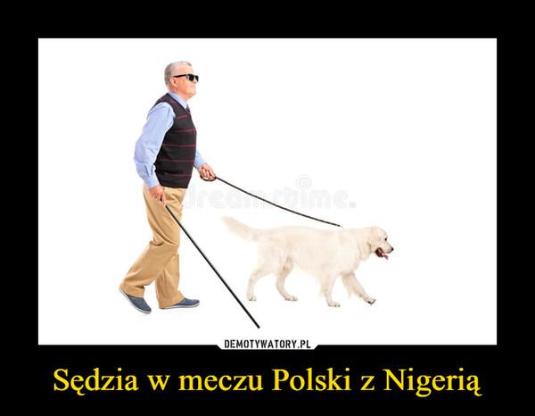 Sędzia w meczu Polski z Nigerią –