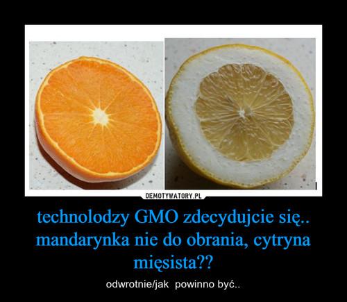 technolodzy GMO zdecydujcie się.. mandarynka nie do obrania, cytryna mięsista??