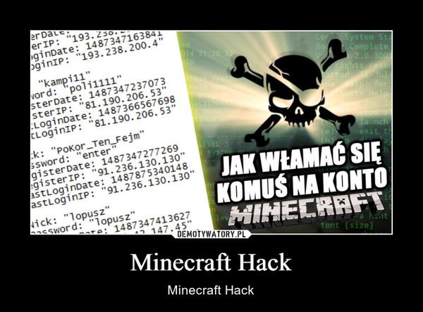 Minecraft Hack – Minecraft Hack