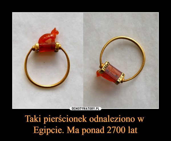 Taki pierścionek odnaleziono w Egipcie. Ma ponad 2700 lat –