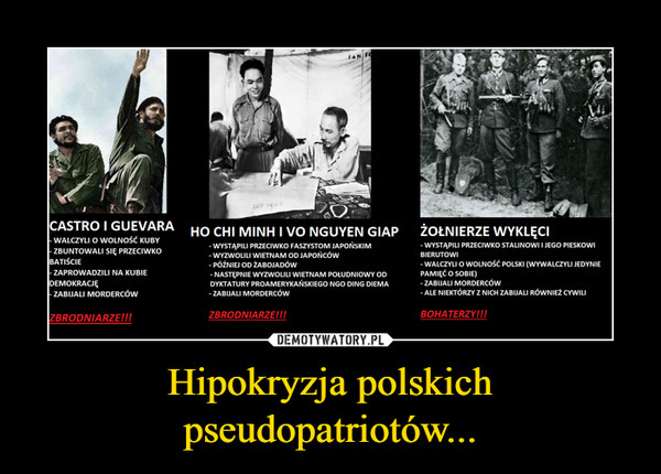 Hipokryzja polskich pseudopatriotów... –