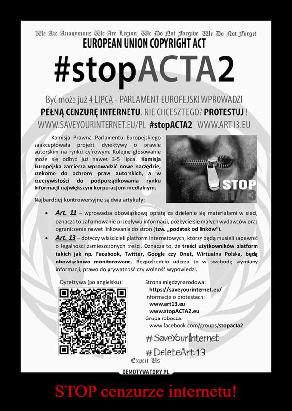 STOP cenzurze internetu! –