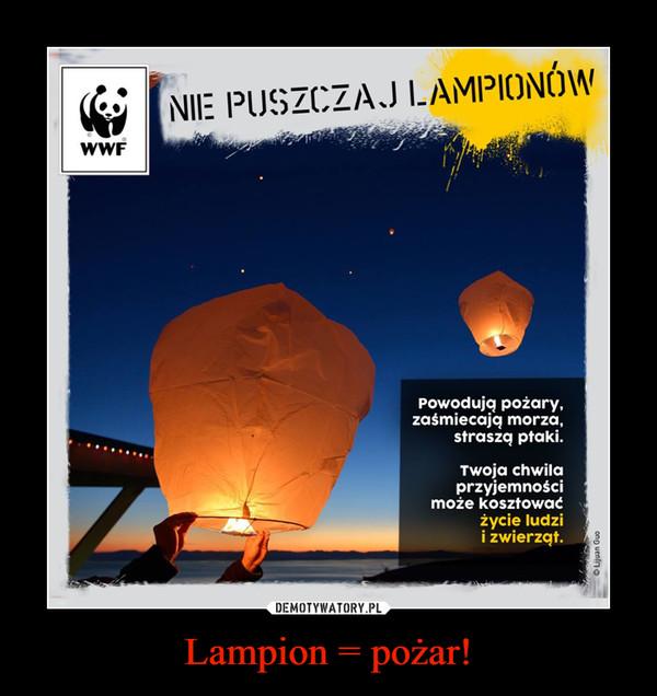 Lampion = pożar! –
