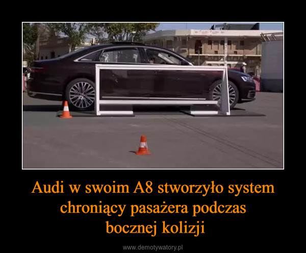 Audi w swoim A8 stworzyło system chroniący pasażera podczas bocznej kolizji –