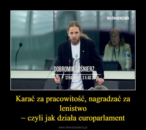 Karać za pracowitość, nagradzać za lenistwo~ czyli jak działa europarlament –