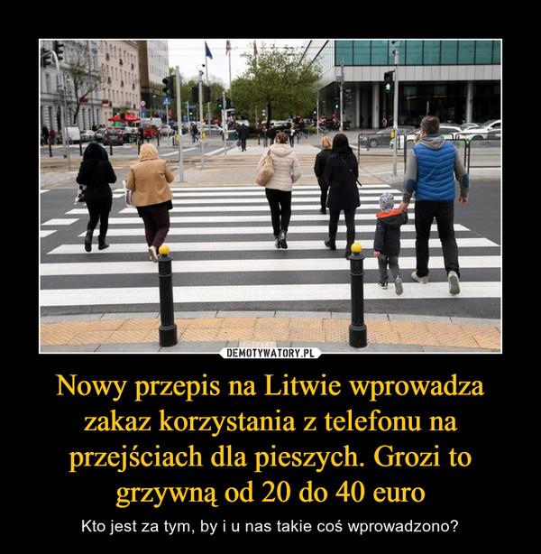 Nowy przepis na Litwie wprowadza zakaz korzystania z telefonu na przejściach dla pieszych. Grozi to grzywną od 20 do 40 euro – Kto jest za tym, by i u nas takie coś wprowadzono?